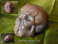 Stein, Kunsthandwerk, Speckstein, Tod