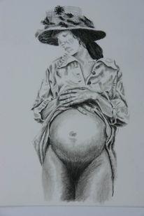 Menschen, Schwangerschaft, Akt, Frau