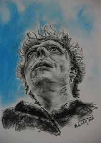 Selbstportrait, Mann, Pastellmalerei, Viktringer kreis