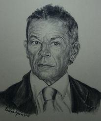 Portrait, Kärnten, Kohlezeichnung, Viktring