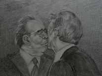 Kopf, Leonid breschnew, Grafit, Liebe