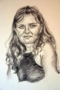 Gesicht, Zeichnung, Haare, Frau