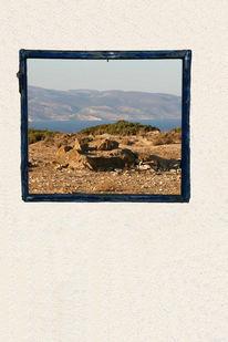 Mauer, Landschaft, Himmel, Stillleben