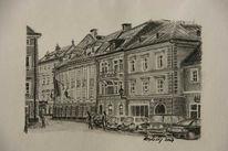 Klagenfurt, Zeichnung, Haus, Landschaft
