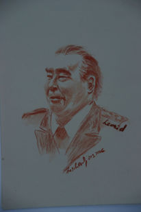 Portrait, Cccp, Zeichnung, Kopf