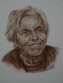 Menschen, Gesicht, Zeichnung, Viktringer künstlerkreis