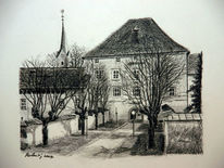 Brg viktring, Schule, Landschaft, Kirche