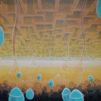 Klima, Malerei, Co2, Welt