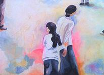 Kinder, Temperamalerei, Neon, Malerei