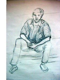 Portrait, Leben, Zeichnung, Figur