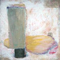 Acrylmalerei, Malerei, Abstrakt, Senf