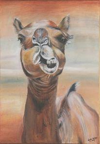 Malerei, Figural, Kamel