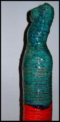 Frau, Keramik, Figur, Kunsthandwerk