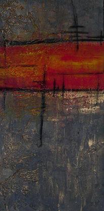 Abstrakt, Mischtechnik, Metamorphose, Malerei