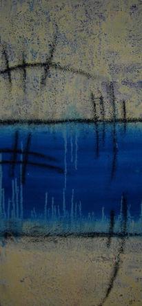 Mischtechnik, Malerei, Abstrakt, Metamorphose