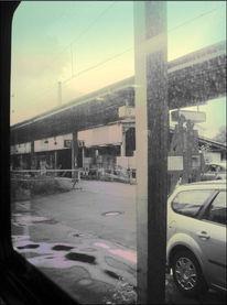 Zug, Bahnhof, Alltag, Regen