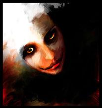 Augen, Gesicht, Dunkel, Maske