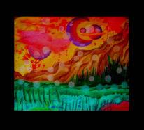Surreal, Malerei, Universum, Wiese