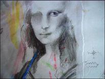 Mona lisa, Witz, Skizze, Zeichnung