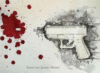 Schießen, Kampf, Schußwaffe, Kugel