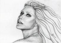 Portrait, Skizze, Zeichnung, Frauenportrait
