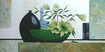 Blumen, Gelb, Vas, Grün