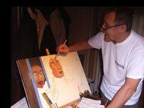 Acrylmalerei, Fotografie, Malerei, Portrait