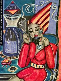 Futurismus, Gemälde, Acrylmalerei, Figur