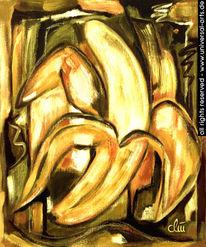 Obst, Stillleben, Gemälde, Malerei