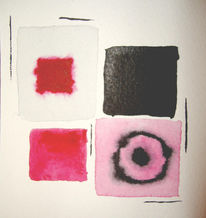 Kreis, Aquarellmalerei, Quadrat, Abstrakt