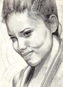 Adriana lima portrait, Zeichnung, Bleistiftzeichnung, Gesicht