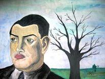 Figural, Landschaft, Mann, Malerei