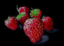 Malerei, Stillleben, Erdbeeren