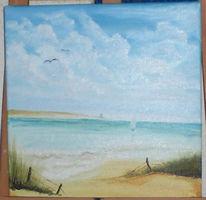 Landschaft, Malerei, Tag, Meer