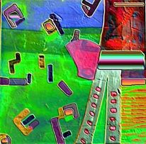 Abstrakt, Digital, Digitale kunst, Apfel