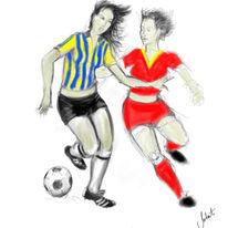 Figural, Digital, Fussbal, Digitale kunst