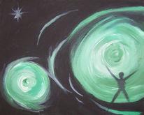 Traum, Acrylmalerei, Schwarz, Angst