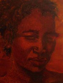 Afrika, Gesicht, Emotion, Malerei