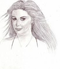 Zeichnung, Portrait, Zeichnungen, Junge