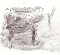 Stillleben, Zeichnung, Zeichnungen, Angriff