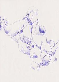 Zeichnung, Frau, Mann, Zeichnungen