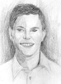 Perspektive, Portrait, Lachen, Zeichnung