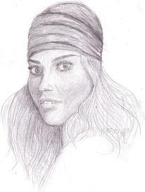 Zeichnungen, Portrait, Kontrast, Teil