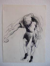 Schritt, Bewegung, Tanz, Zeichnungen