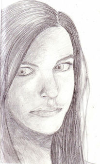 Zeichnung, Portrait, Zeichnungen, Kontrast