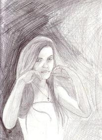 Zeichnungen, Portrait, Mädel