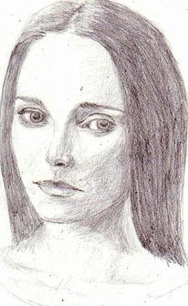 Portrait, Zeichnung, Zeichnungen, Kontrast