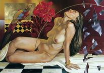 Akt, Figural, Akt acrylmalerei realismus, Malerei