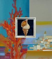 Malerei, Acrylmalerei, Stillleben, Rot