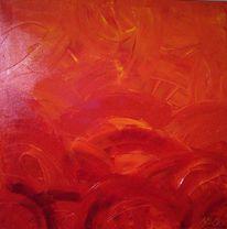 Abstrakt, Malerei, Rot, Energie